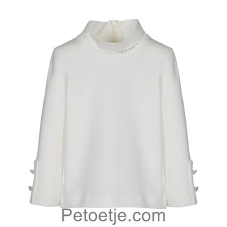LAPIN HOUSE Ivory Turtleneck Top