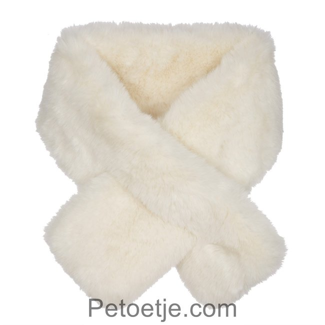 LAPIN HOUSE Girls Ivory Faux Fur Scarf