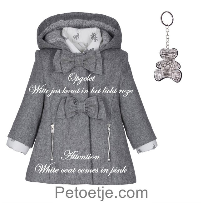 LAPIN HOUSE 2 in 1 Pink & Grey Coat