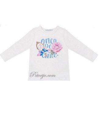 BALLOON CHIC Girls White Cotton Top - Fairy