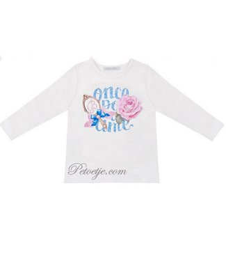 BALLOON CHIC Meisjes Witte T-Shirt - Fairy