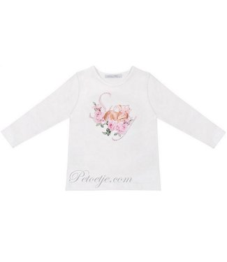 BALLOON CHIC Girls White Cotton Top - Bambi