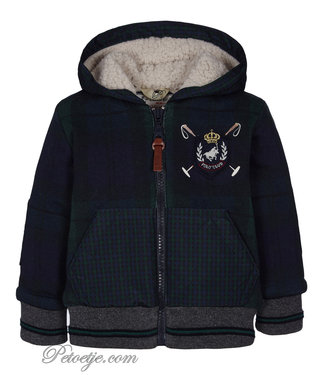 LAPIN HOUSE Boys Blue & Green Zip Up Top