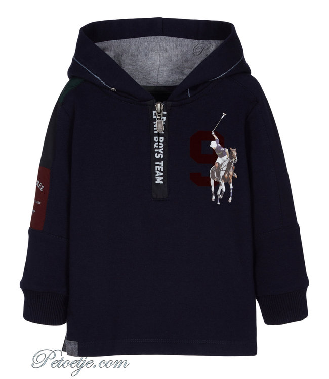 LAPIN HOUSE Boys Navy Blue Cotton Hoodie
