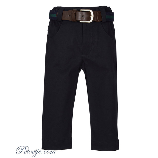 LAPIN HOUSE Ceremony Boys Navy Blue Trousers & Belt
