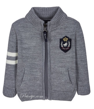 LAPIN HOUSE Boys Grey Knitted Cardigan