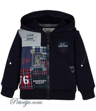 LAPIN HOUSE Boys Navy Blue Zip Up Top