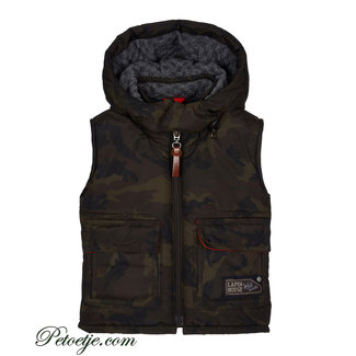 LAPIN HOUSE Boys Green Camoflage Padded Gilet
