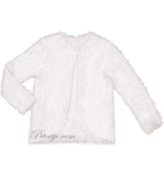 TRYBEYOND Girls Ivory Knitted Cardigan