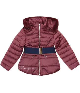TRYBEYOND Girls Burgundy Padded Coat