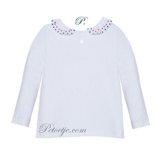 PATACHOU Girls White Cotton Blouse