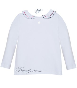 PATACHOU Girls White Cotton Blouse