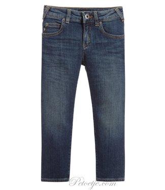 ARMANI Boys Mid Blue Straight Fit Jeans