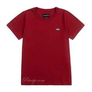 EMPORIO ARMANI Jongens Rood Logo T-shirt