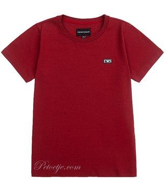 ARMANI Boys Red Logo T-Shirt