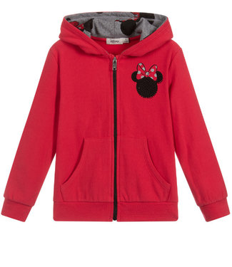 EMC Red Minnie Mouse Zip Up Hoodie