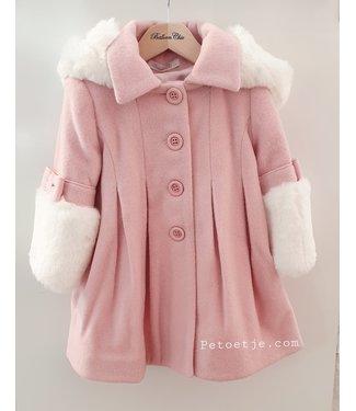 BALLOON CHIC Meisjes Roze Wol Gemixte Mantel
