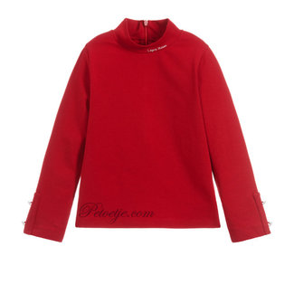 LAPIN HOUSE Red Turtleneck Top