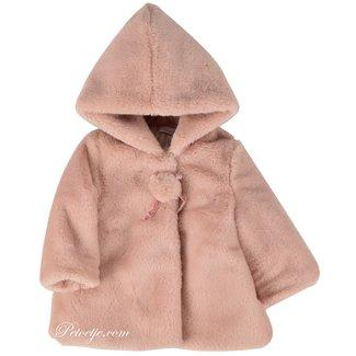BARCELLINO Roze Imitatie Bont Jas