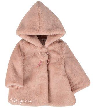 BARCELLINO Pink Faux Fur Coat