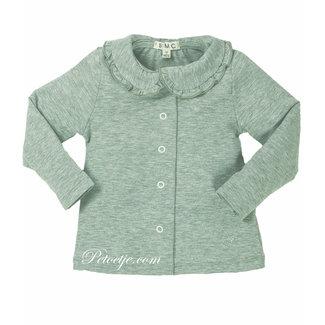 EMC Girls Grey Cotton Blouse