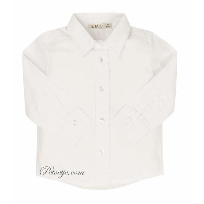 EMC Jongens Wit Katoenen Hemd
