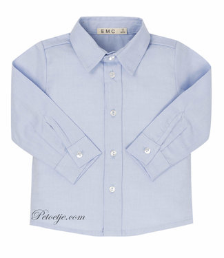 EMC Jongens Licht Blauw Katoenen Hemd