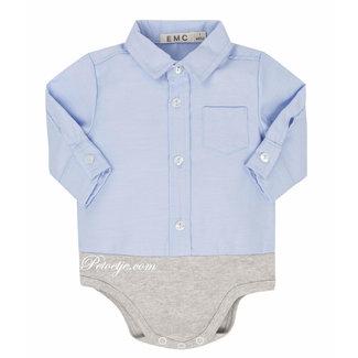 EMC Jongens Blue Body Cotton Shirt