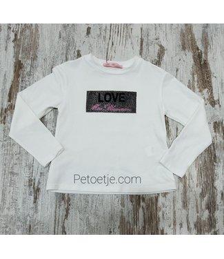 MISS BLUMARINE  Meisjes Witte Jersey Top - Love