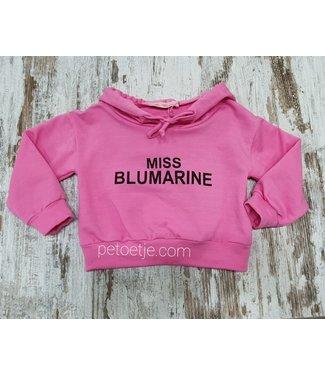MISS BLUMARINE  Meisjes Roze Logo Trui
