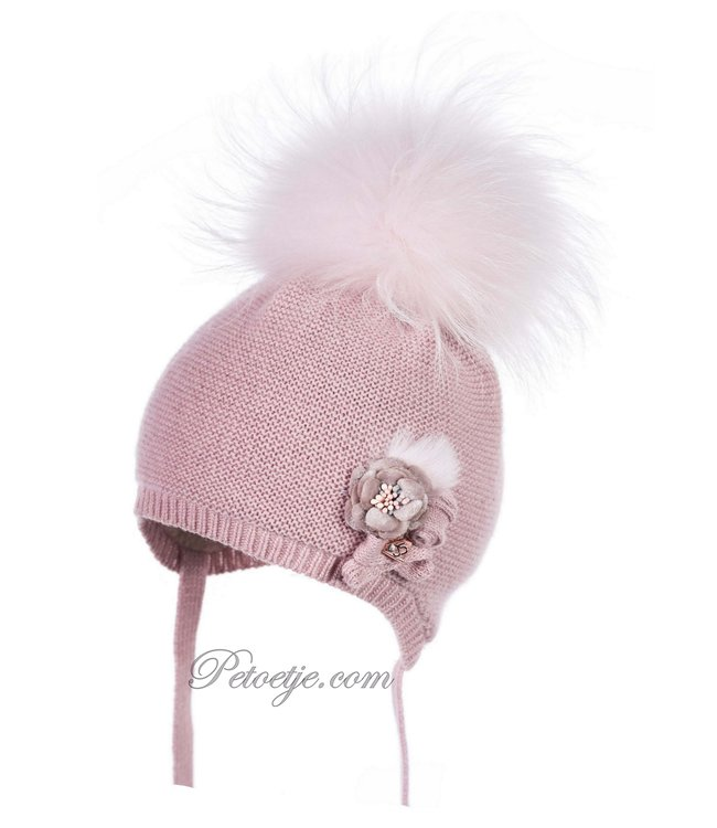 JAMIKS Pink Wool Knit Baby Hat