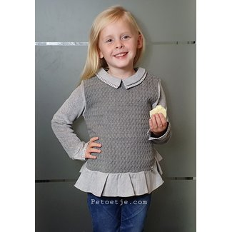 LAPIN HOUSE Grey Knitted Wool Blend Blouse