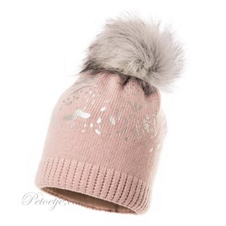 JAMIKS Pink Wool Knit Hat
