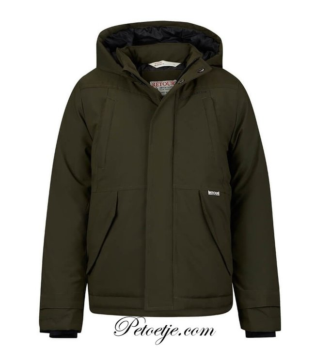 RETOUR  Boys Army Green Coat