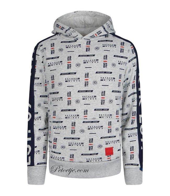 RETOUR  Boys Grey Logo Hoodie
