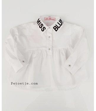 MISS BLUMARINE  Meisjes Witte Logo Blouse