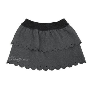 DR. KID Girls Grey Viscose Skirt