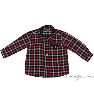 DR. KID Boys Blue & Red Check Shirt