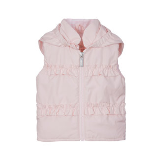 LAPIN HOUSE Girls Pink Gilet Ruches