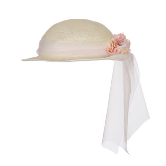 LAPIN HOUSE Girls Woven Hat Floral Ribbon