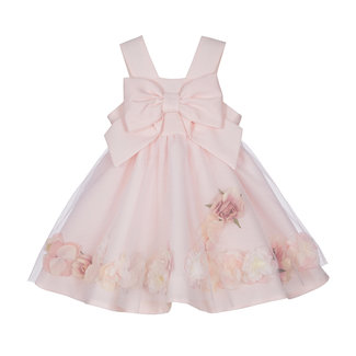 LAPIN HOUSE Girls Pink Tulle Dress - Flowers