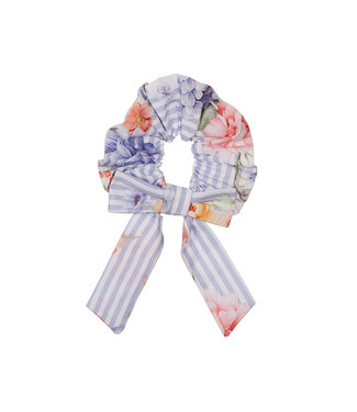 LAPIN HOUSE Girls Blue Striped Floral Hearband
