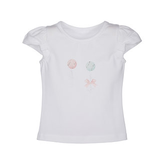 LAPIN HOUSE Girls White Cotton Top
