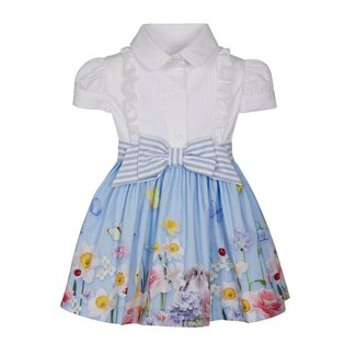 LAPIN HOUSE White & Blue Floral Dress
