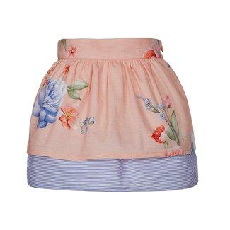 LAPIN HOUSE Girls Orange & Blue Floral Skirt