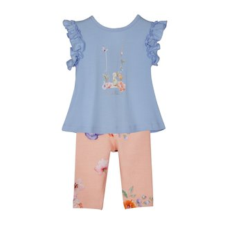 LAPIN HOUSE Blauw & Oranje Legging Set