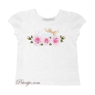 BALLOON CHIC White Cotton Top - Lovely Roses