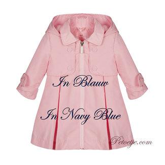 LAPIN HOUSE Girls Navy Blue Rain Coat