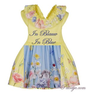 LAPIN HOUSE Girls Blue Floral Dress