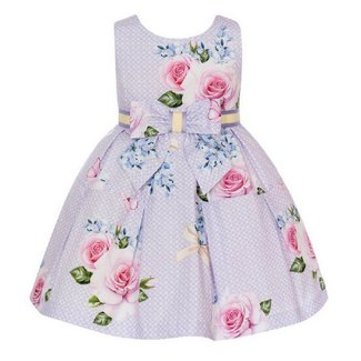 BALLOON CHIC Girls Lilac Floral Dress